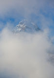 Mount Assiniboine and clouds Stock Photos