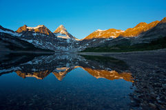 Mount Assiniboine with reflection Stock Image