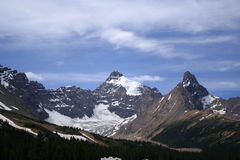 Mount Athabasca Hilda peak and Hilda Glacier Royalty Free Stock Images
