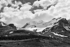 Mount Athabasca scenic view stock images