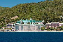 Mount Athos stockfoto