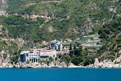 Mount Athos stockbilder