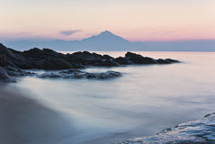 Mount Athos. Seconds before sunrise Stock Photography