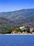 Mount Athos border Chalkidiki Greece Stock Image