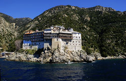 Mount Athos in Greece royalty free stock images
