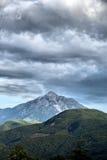 Mount Athos i HDR Royaltyfri Fotografi