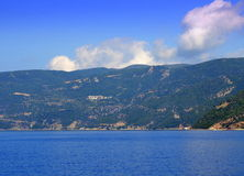 Mount Athos panoramic view Greece Royalty Free Stock Photography