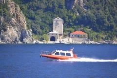Mount Athos sight Greece Stock Photos