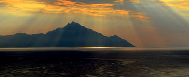 Mount Athos. A view of Mount Athos, Macedonia, Greece Stock Image