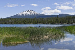 Mount Bachelor in Central Oregon Royalty Free Stock Images