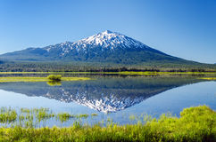 Mount Bachelor Reflection Stock Photo