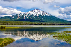 Mount Bachelor and Reflection Royalty Free Stock Photo