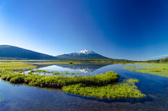 Mount Bachelor and Sparks Lake Stock Image