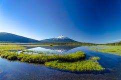 Mount Bachelor and Sparks Lake Stock Image