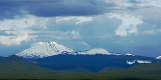 Mount Bachelor and Tumalo Butte Royalty Free Stock Images