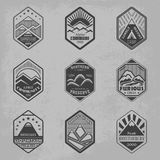 Mount badge set1 Stock Photos