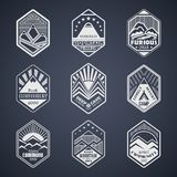 Mount badge set1white Stock Photo