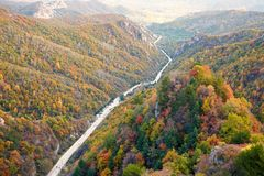 Mount Bailongshan autumn, Shanxi, China royalty free stock photo