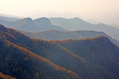 Mount Bailongshan autumn, Shanxi, China stock images