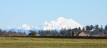 Mount Baker as seen from Skagit Valley Royalty Free Stock Photography