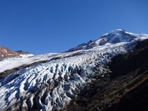 Mount Baker and Coleman Glacier in fall Stock Photo