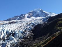Mount Baker and Coleman Glacier in fall Stock Photos