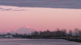Mount Baker Dusk 4K UHD stock video