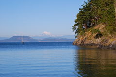 Mount Baker from Lopez Island, Washington, USA. Mount Baker seen from Lopez Island, Washington, USA royalty free stock photos