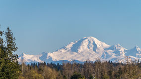Mount Baker seen from the township of Langley Stock Images