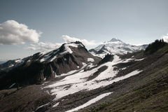 Mount Baker. Steep slopes of Mount Baker partly covered in snow, Washington, USA Stock Photo