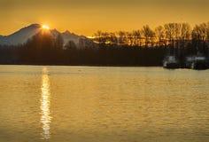 Mount Baker Sunrise Stock Image