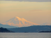 Mount Baker at the sunset Royalty Free Stock Images
