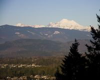 Mount Baker taken from Mount Vernon Stock Photography