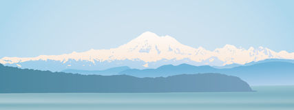 Mount Baker Washington State panoramic Royalty Free Stock Image