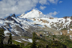 Mount Baker, Washington. A view of the snow-capped Mount Baker volcano, photographed from the Chain Lakes hiking trail in northern Washington Stock Photos