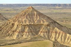 Mount in Bardenas Stock Photos
