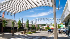Mount Barker shopping center in South Australia. South Australia, Australia - January 5, 2017: A shopping center in the town of Mount Barker provides shoppers Royalty Free Stock Photos