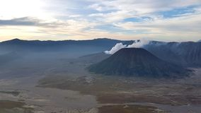 Mount Batok View. Fantastic Mount Batok view from Pananjakan Bromo Indonesia Royalty Free Stock Photos