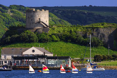 Mount Batten, Plymouth, UK. Sailboats in the bay stock image