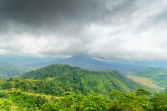 Mount Batur. Active volcano in Bali, Indonesia Royalty Free Stock Photo