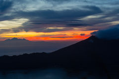 Mount Batur in Bali Stock Photography