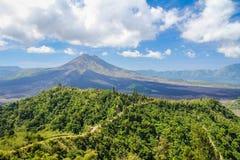 Mount Batur in Bali Indonesia Stock Image