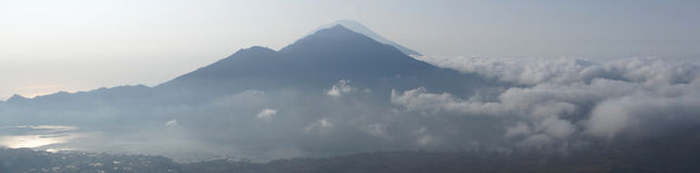 Mount Batur, Bali, Indonesia Royalty Free Stock Images