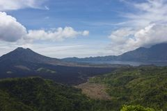 Mount Batur landscape, Indonesia Stock Images