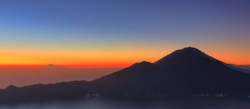 Mount Batur Rinjani panorama Stock Photo