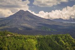 Mount Batur Volcano in Kintamani. Bali volcano, also referred to as Kintamani volcano or Mount Batur as a whole, is a popular sightseeing destination in Bali`s Royalty Free Stock Photography