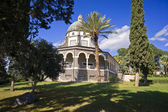Mount of Beatitudes. Roman Catholic Franciscan chapel on Mount of Beatitudes in the Galilee Stock Photography