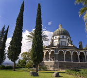 Mount of Beatitudes. Roman Catholic Franciscan chapel on Mount of Beatitudes in the Galilee Royalty Free Stock Photos