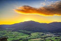 Mount Beauty at Sunrise. A stunning panorama of Mount Beauty, Victoria taken at sunrise Stock Images