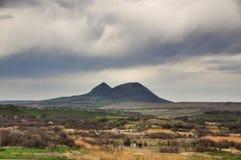 Mount Beshtau. Beshtau the isolated five-domed mountain laccolith, the highest of 17 ostantsovykh of magmatic mountains Pyatigorya on Caucasus Mineralnye Vody royalty free stock images